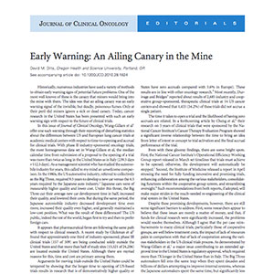 Early Warning Signs: An Ailing Canary In The Mine