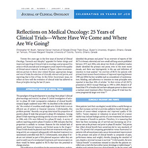 Reflections On Medical Oncology: 25 Years Of Clinical Trials – Where Have We Come And Where Are We Going?