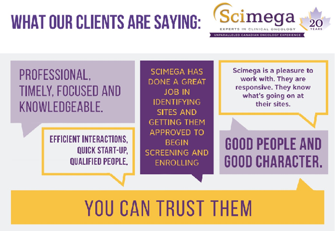 What Scimega clients are saying